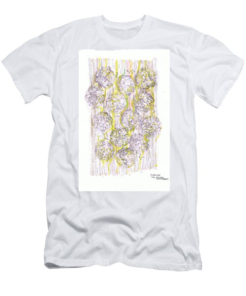 Size Exclusion Chromatography Men's T-Shirt (Slim Fit) by Regina Valluzzi