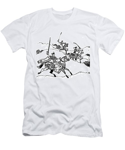 #sketch #drawing #india #rajput Men's T-Shirt (Athletic Fit)