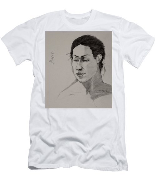 Men's T-Shirt (Slim Fit) featuring the drawing Sketch For Marie 2 by Ray Agius