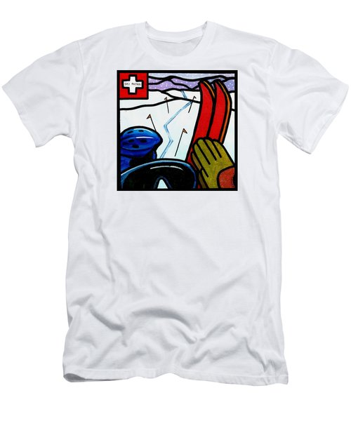 Ski Patrol Men's T-Shirt (Slim Fit) by Jim Harris