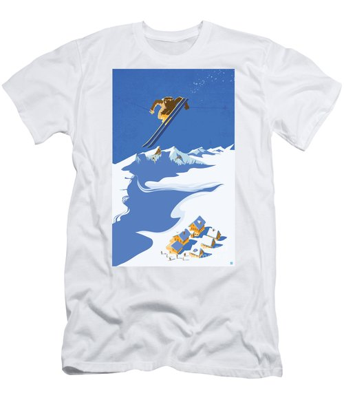 Sky Skier Men's T-Shirt (Athletic Fit)