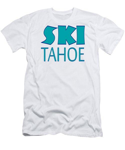 Men's T-Shirt (Athletic Fit) featuring the digital art Ski Tahoe by David Millenheft