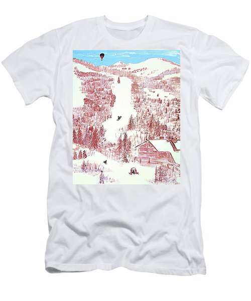 Skiing Deer Valley Utah Men's T-Shirt (Athletic Fit)