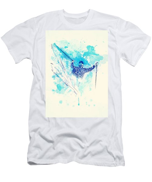 Skiing Down The Hill Men's T-Shirt (Athletic Fit)
