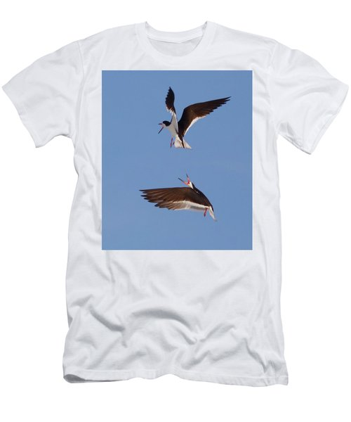Skimmers In Flight Men's T-Shirt (Athletic Fit)