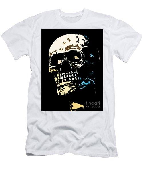Skull Against A Dark Background Men's T-Shirt (Athletic Fit)