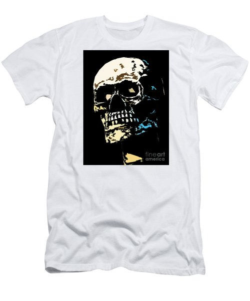 Skull Against A Dark Background Men's T-Shirt (Athletic Fit)