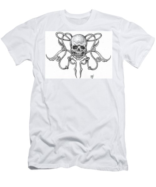 Skull Design Men's T-Shirt (Athletic Fit)