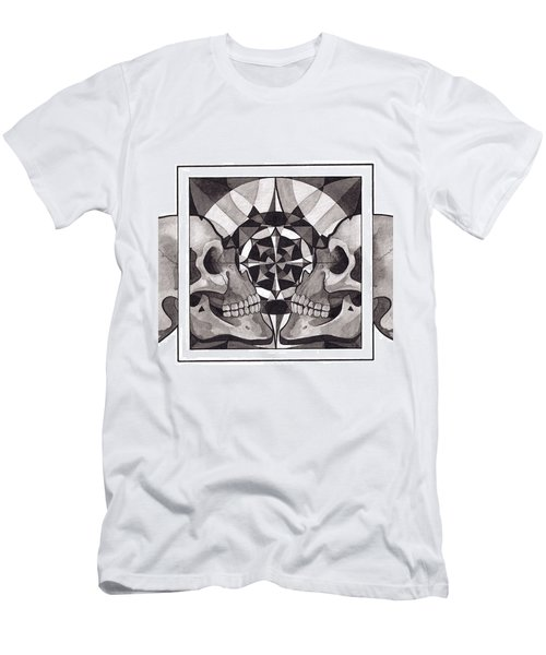 Skull Mandala Series Nr 1 Men's T-Shirt (Slim Fit) by Deadcharming Art