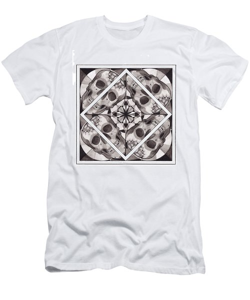 Skull Mandala Series Number Two Men's T-Shirt (Athletic Fit)