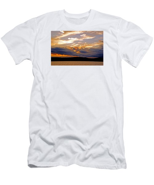 Men's T-Shirt (Slim Fit) featuring the photograph Sky Fire by Lynda Lehmann