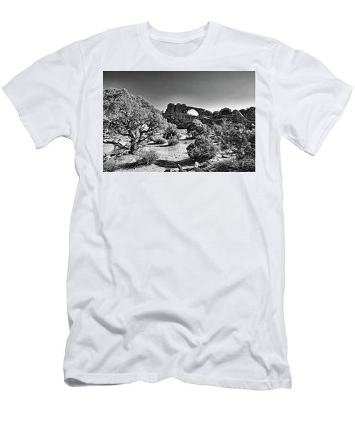 Skyline Arch In Arches National Park Men's T-Shirt (Athletic Fit)