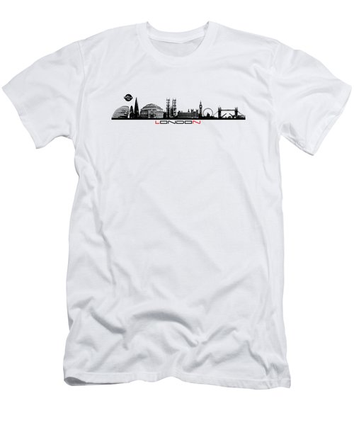 skyline city London black Men's T-Shirt (Slim Fit) by Justyna JBJart