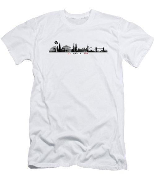 skyline city London black Men's T-Shirt (Athletic Fit)