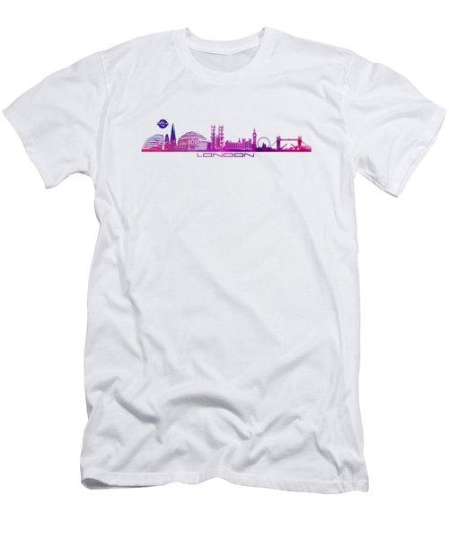skyline city London purple Men's T-Shirt (Athletic Fit)
