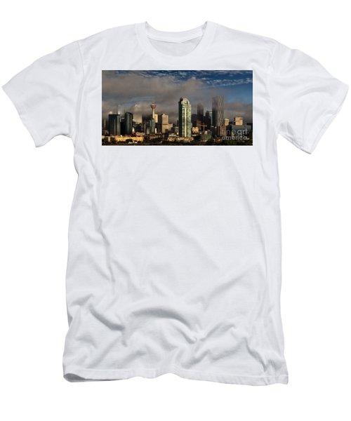 Skyline Fog Men's T-Shirt (Slim Fit) by Brad Allen Fine Art