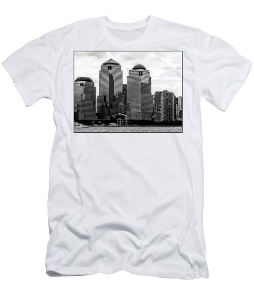 Skyline Nyc River View  Men's T-Shirt (Athletic Fit)