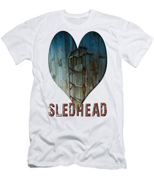 Sledhead Men's T-Shirt (Slim Fit) by Mim White