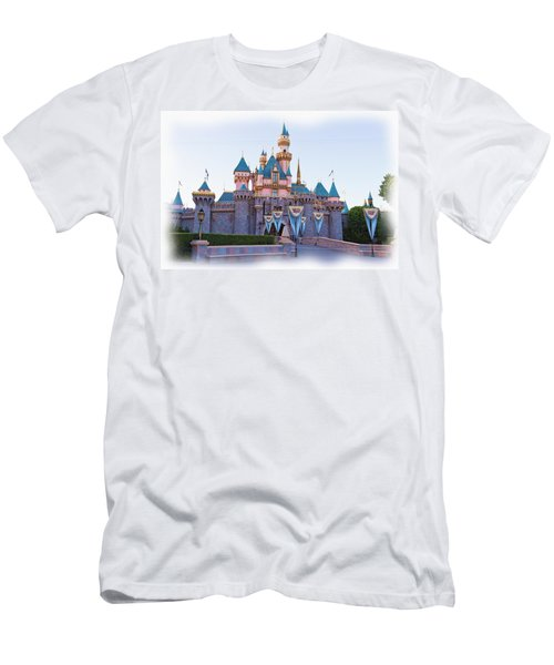 Sleeping Beauty's Castle Disneyland Men's T-Shirt (Athletic Fit)