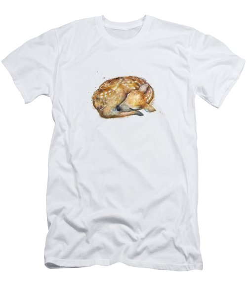 Sleeping Fawn Men's T-Shirt (Athletic Fit)