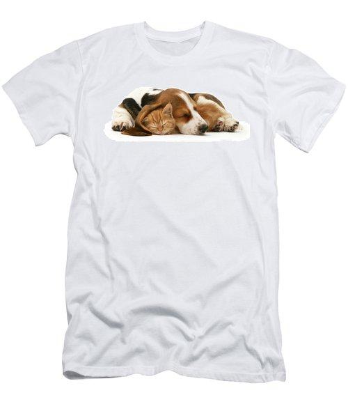 Sleepy Ginger Pals Men's T-Shirt (Athletic Fit)