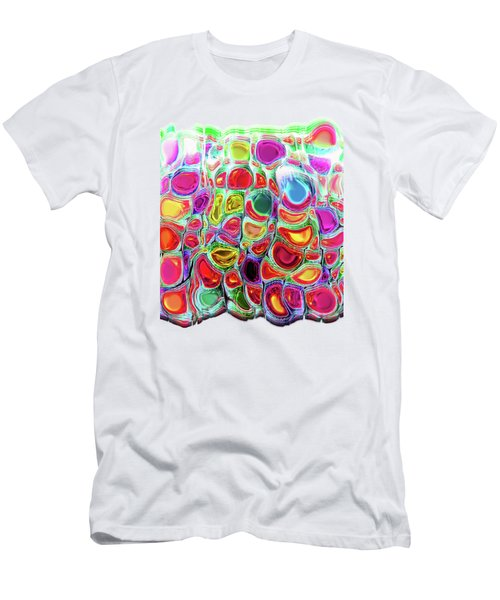 Men's T-Shirt (Slim Fit) featuring the digital art Slipping And Sliding by Menega Sabidussi