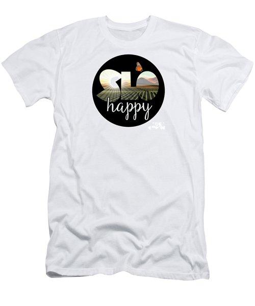 Slohappyedna Men's T-Shirt (Athletic Fit)