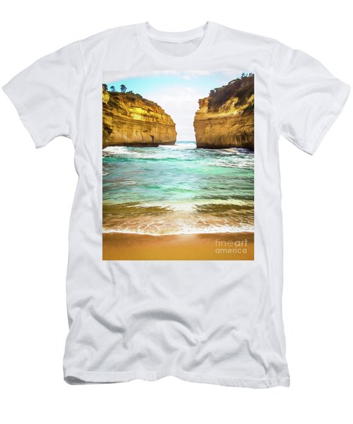 Men's T-Shirt (Slim Fit) featuring the photograph Small Bay by Perry Webster