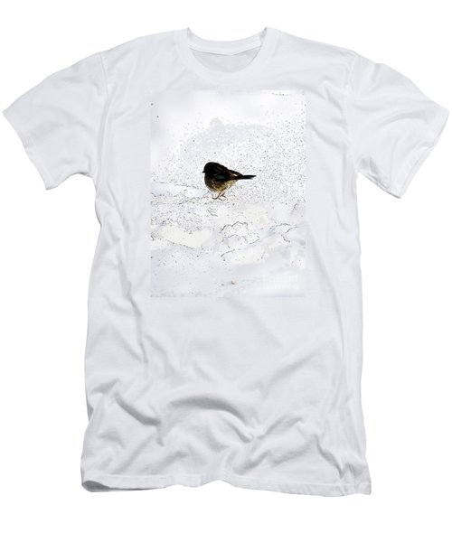 Small Bird On Snow Men's T-Shirt (Athletic Fit)