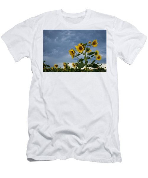 Small Sunflowers Men's T-Shirt (Athletic Fit)