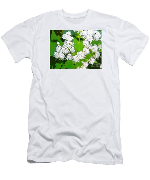 Small White Flowers Men's T-Shirt (Slim Fit) by Craig Walters