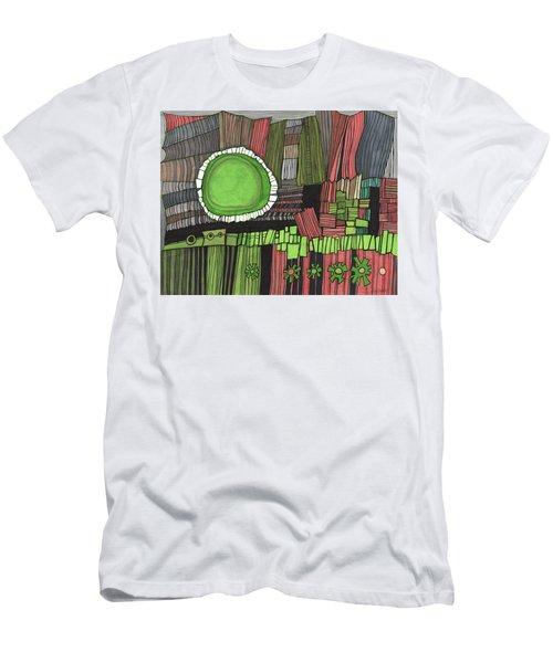 Sun Gone Green Men's T-Shirt (Slim Fit) by Sandra Church