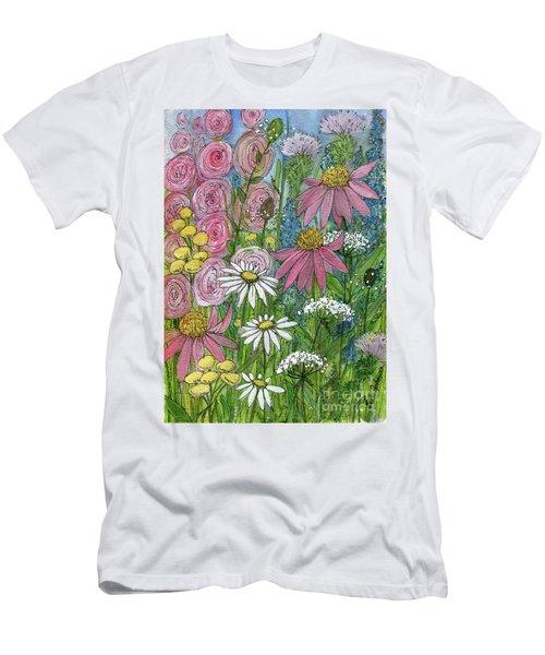 Smiling Flowers Men's T-Shirt (Athletic Fit)