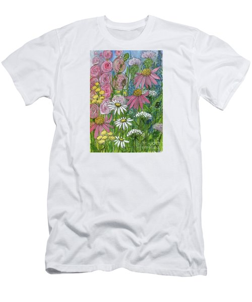 Smiling Flowers Men's T-Shirt (Athletic Fit)