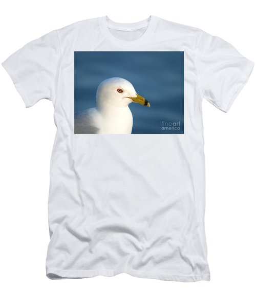 Smiling Seagull Men's T-Shirt (Slim Fit) by Susan Dimitrakopoulos