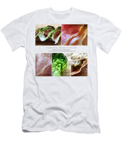 Smoked Prosciutto Open Sandwich Men's T-Shirt (Athletic Fit)