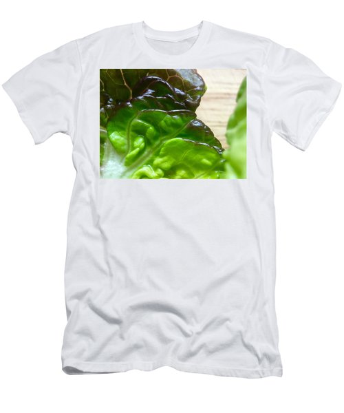 Smoked Prosciutto Open Sandwich Red Gem Lettuce Men's T-Shirt (Athletic Fit)
