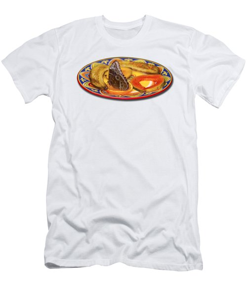 Snacking Butterfly Men's T-Shirt (Athletic Fit)