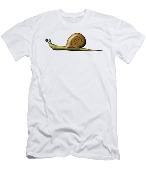 Snail Men's T-Shirt (Slim Fit) by Michal Boubin