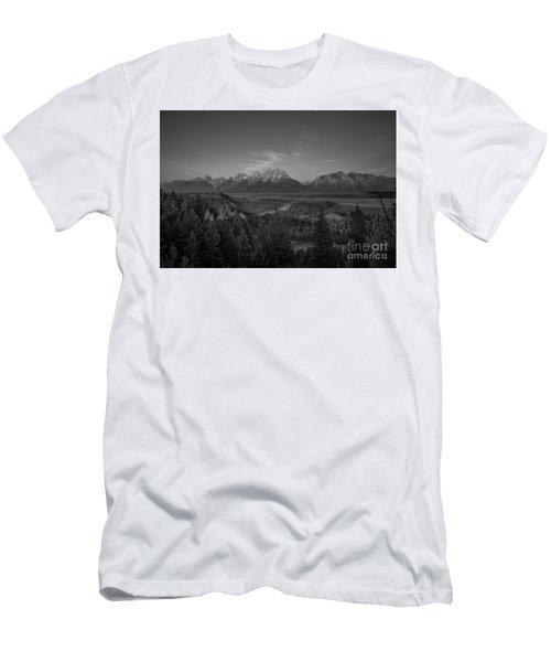 Snake River Sunrise Bw Men's T-Shirt (Athletic Fit)