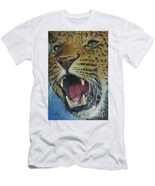 Snarl...amur Leopard Men's T-Shirt (Athletic Fit)