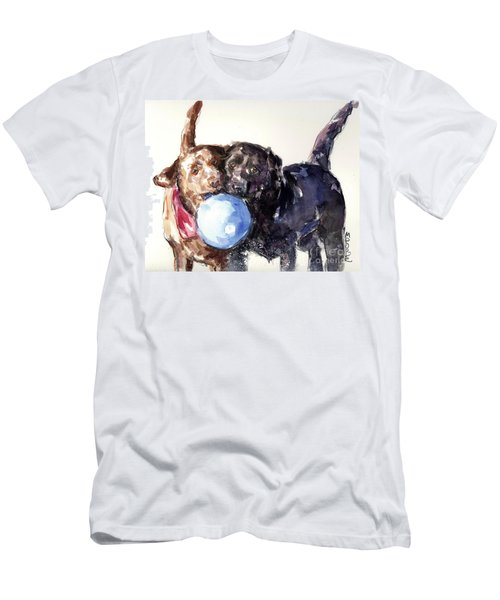 Snow Ball Men's T-Shirt (Slim Fit) by Molly Poole