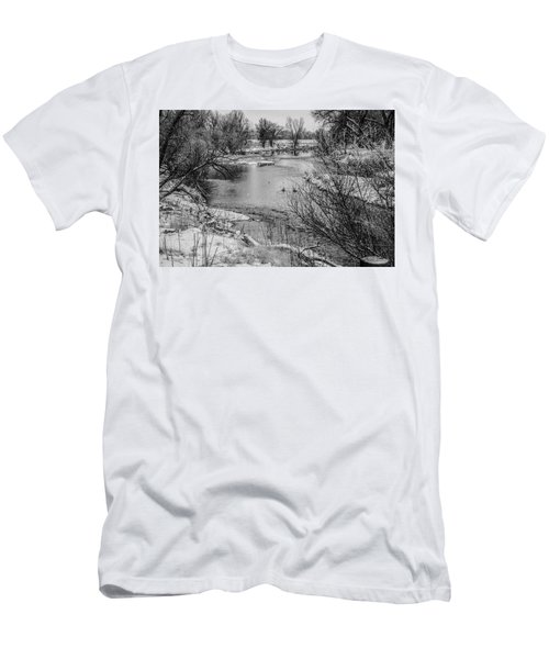Men's T-Shirt (Athletic Fit) featuring the photograph Snow Bird by Tyson Kinnison