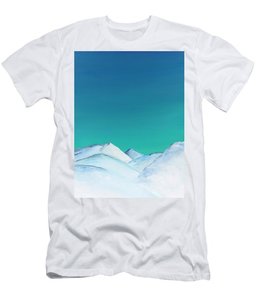 Snow Capped Mountains Men's T-Shirt (Athletic Fit)