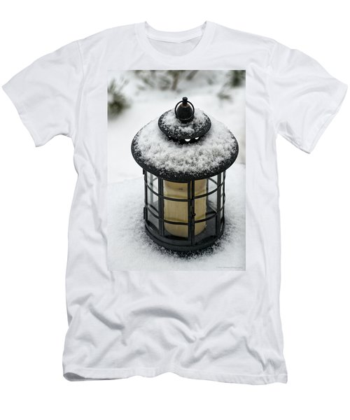 Snow Covered Lamp Men's T-Shirt (Slim Fit) by Phil Abrams
