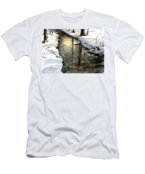 Men's T-Shirt (Athletic Fit) featuring the painting Snow Creek by Andrew King