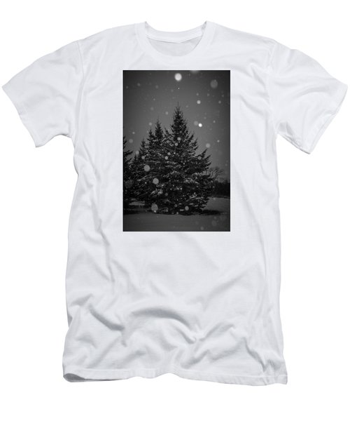 Snow Flakes Men's T-Shirt (Slim Fit) by Annette Berglund