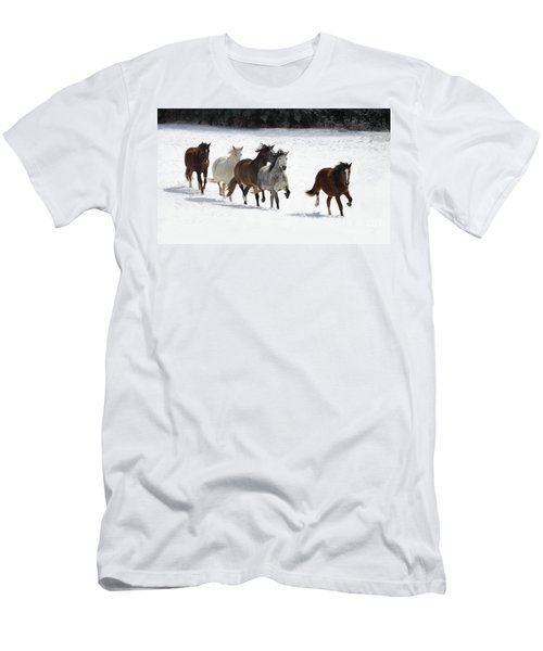 Snow Gallop Men's T-Shirt (Athletic Fit)