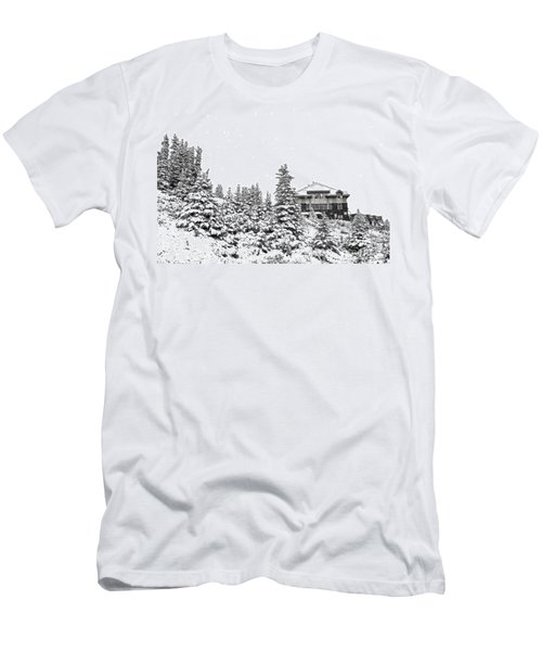 Men's T-Shirt (Slim Fit) featuring the photograph Snow In July 2 by Teresa Zieba