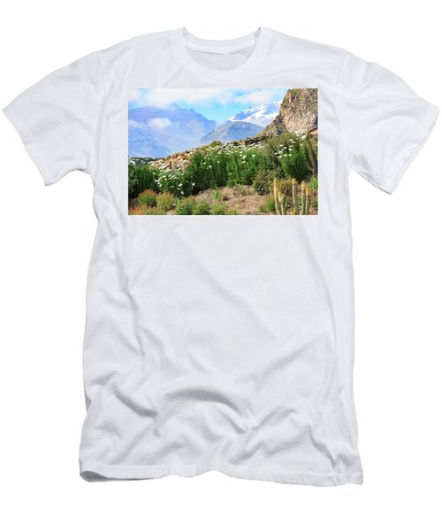 Men's T-Shirt (Athletic Fit) featuring the photograph Snow In The Desert by David Chandler